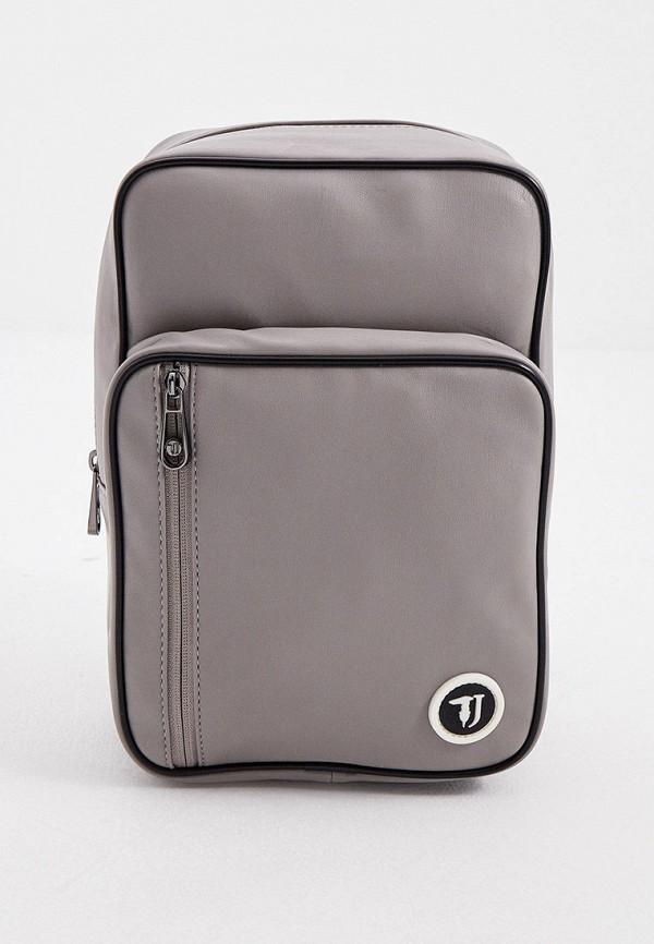 мужской рюкзак trussardi, серый