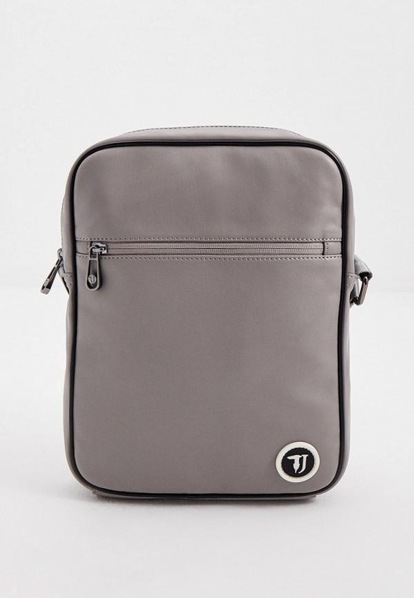 мужская сумка trussardi, серая