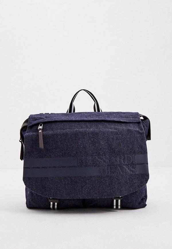 мужской рюкзак trussardi, синий