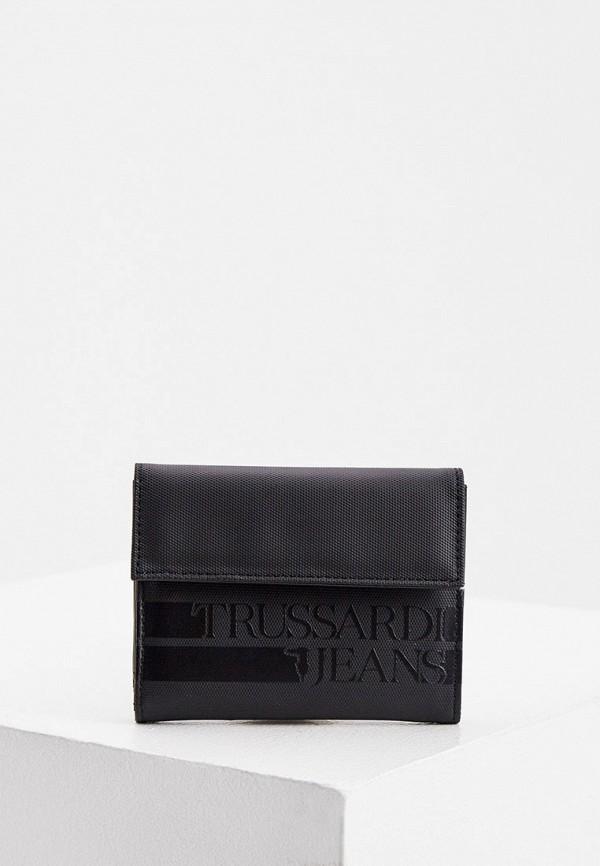 мужской кошелёк trussardi, черный