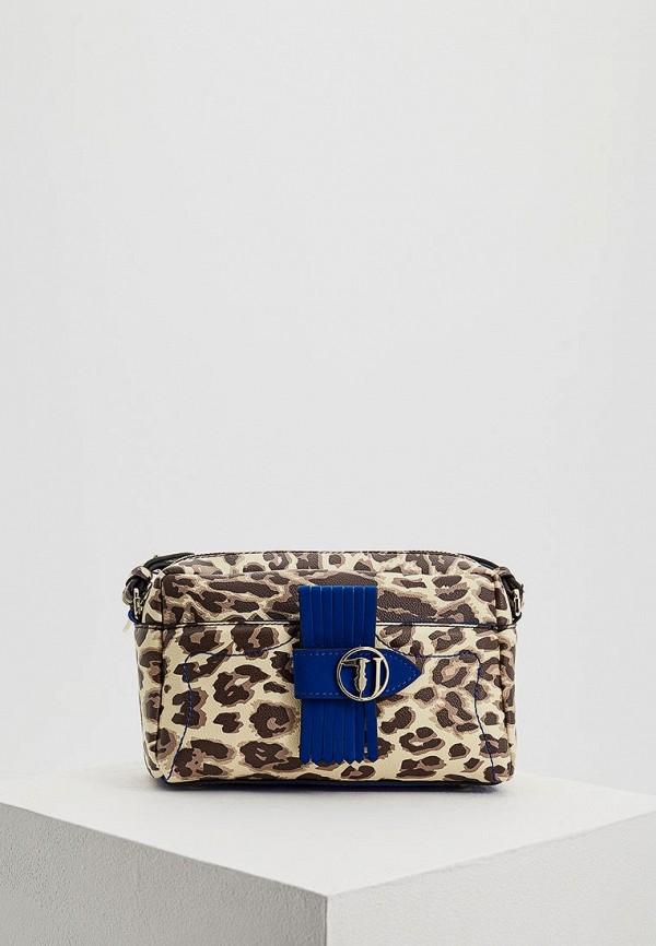 Купить Женскую сумку Trussardi Jeans бежевого цвета