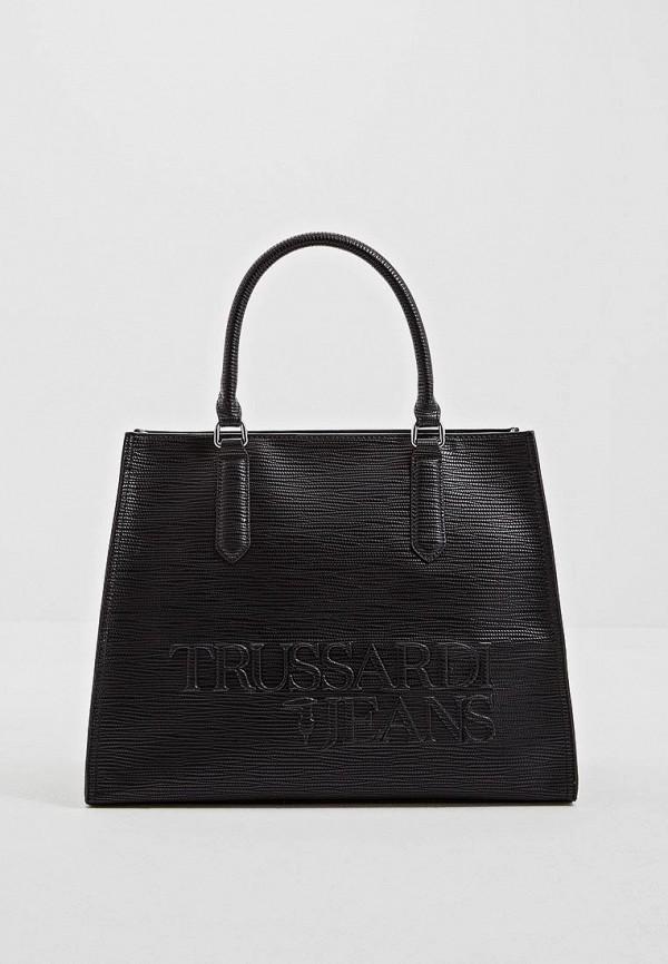 Купить Женскую сумку Trussardi Jeans черного цвета