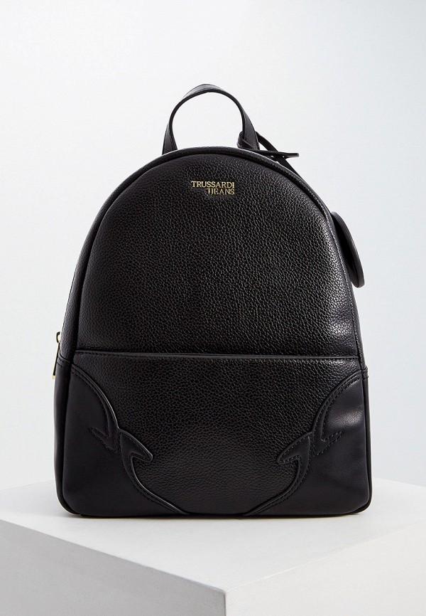 Купить Женский рюкзак Trussardi Jeans черного цвета