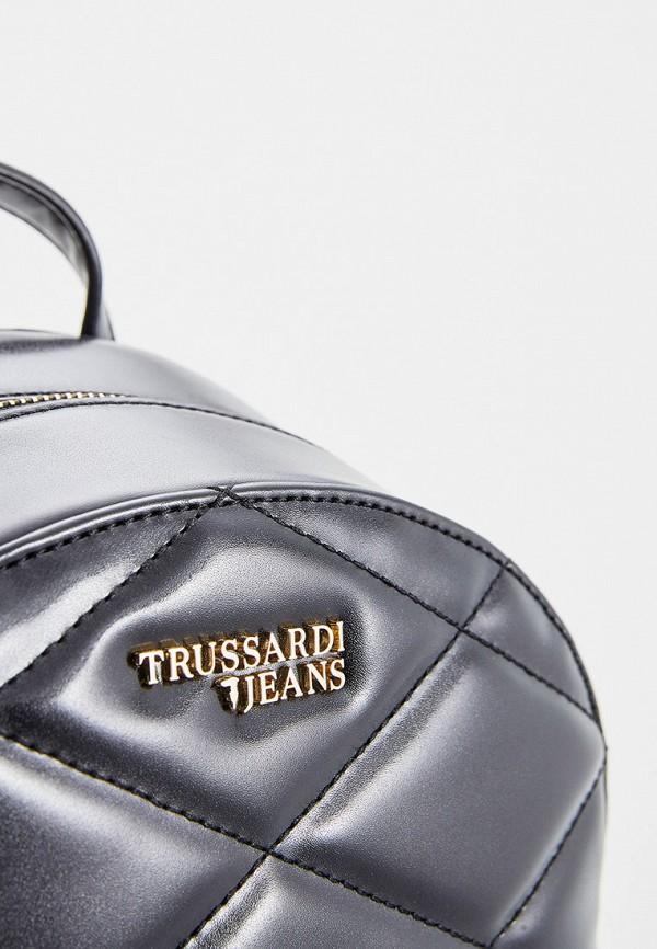 Фото 3 - женский рюкзак Trussardi Jeans черного цвета