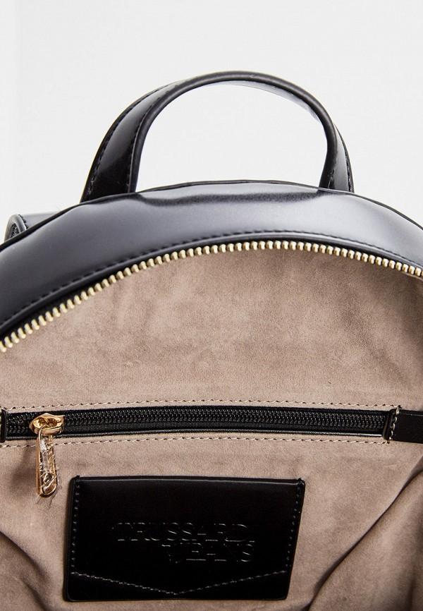 Фото 5 - женский рюкзак Trussardi Jeans черного цвета
