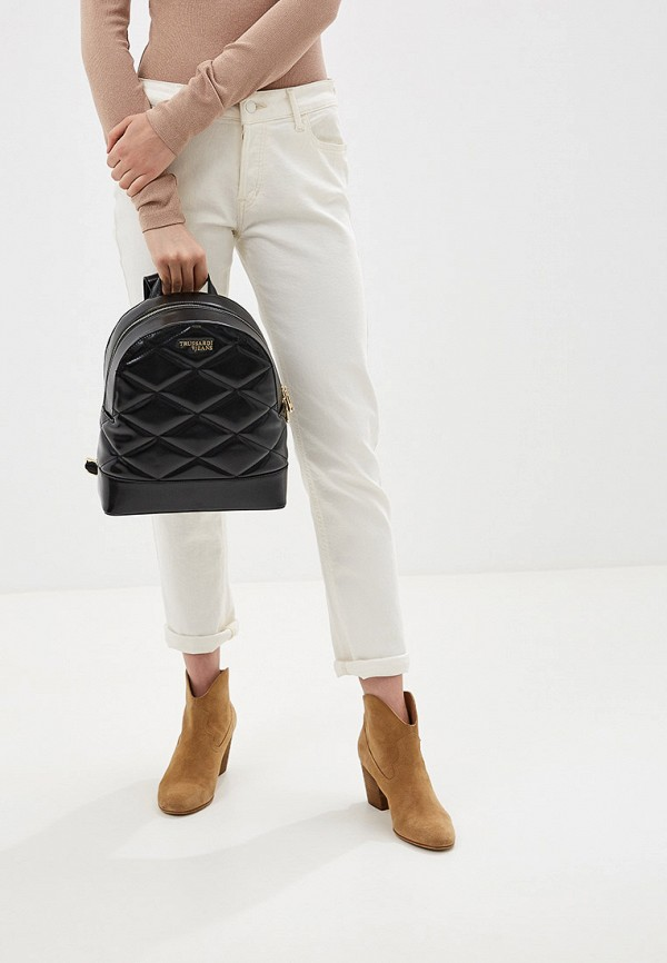 Фото 6 - женский рюкзак Trussardi Jeans черного цвета