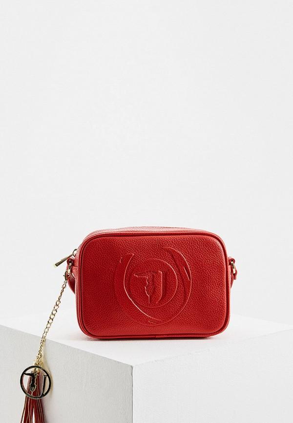 Купить Женскую сумку Trussardi Jeans красного цвета