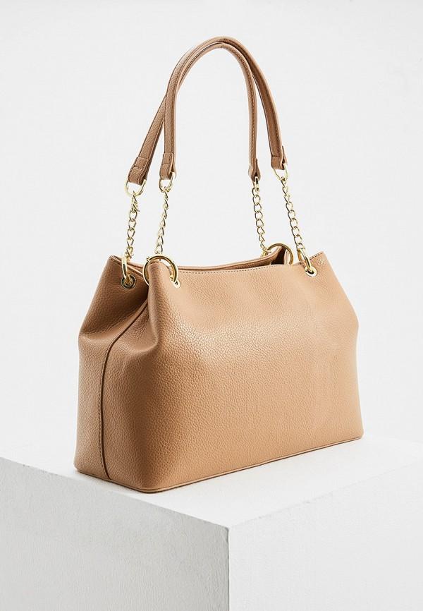 Фото 2 - женскую сумку Trussardi Jeans бежевого цвета