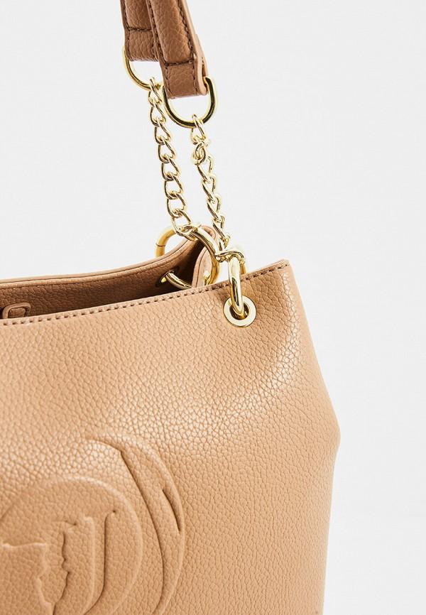 Фото 3 - женскую сумку Trussardi Jeans бежевого цвета