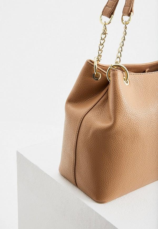 Фото 4 - женскую сумку Trussardi Jeans бежевого цвета