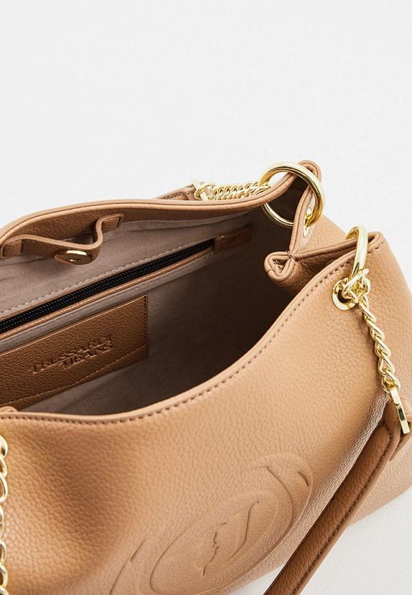 Фото 5 - женскую сумку Trussardi Jeans бежевого цвета