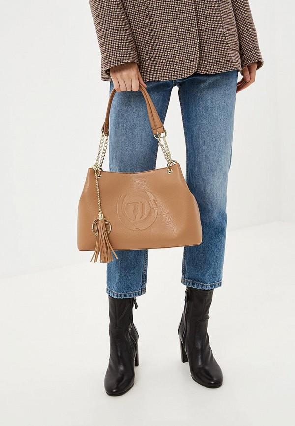 Фото 6 - женскую сумку Trussardi Jeans бежевого цвета