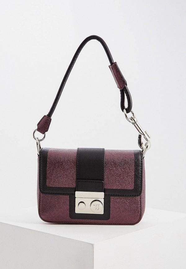 Купить Женскую сумку Trussardi Jeans бордового цвета