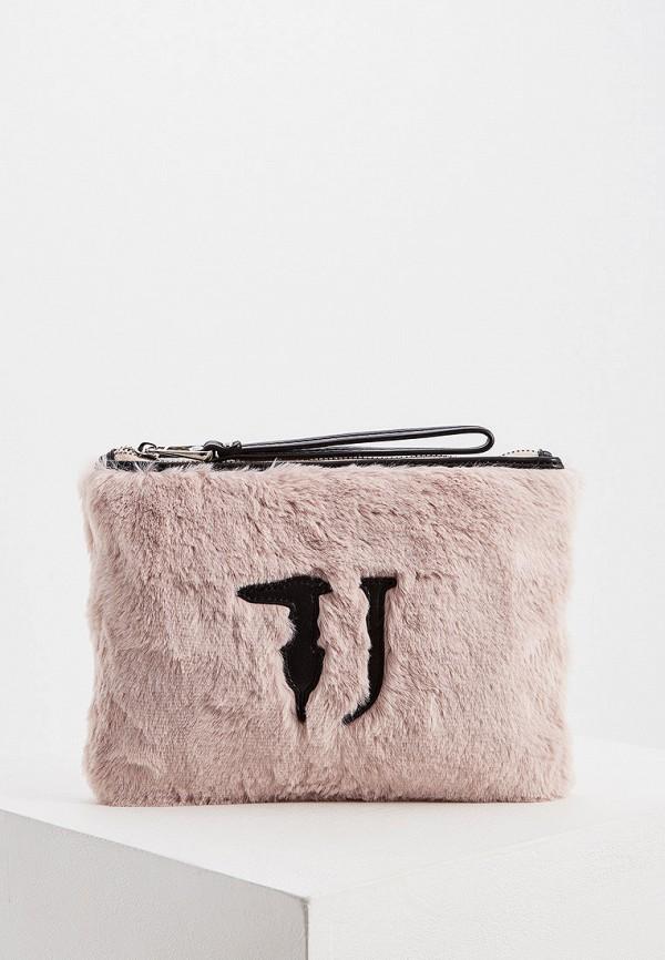 Фото - женский клатч Trussardi Jeans розового цвета