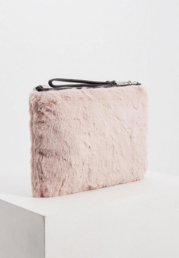 Фото 2 - женский клатч Trussardi Jeans розового цвета