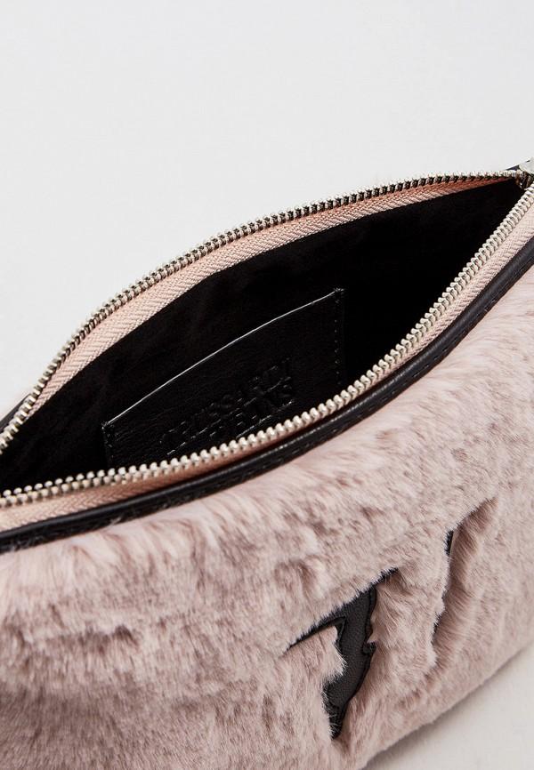 Фото 4 - женский клатч Trussardi Jeans розового цвета