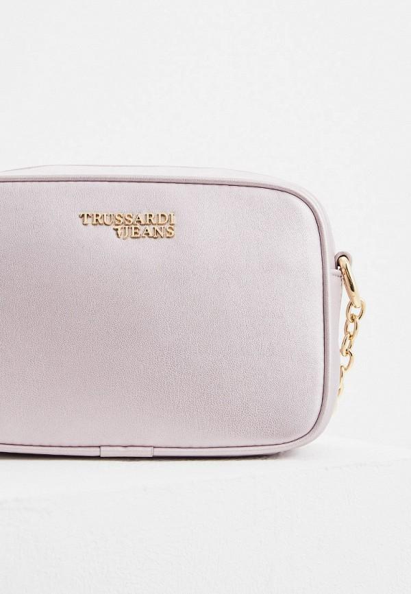 Фото 3 - женскую сумку Trussardi Jeans розового цвета