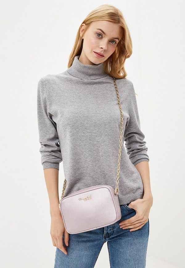 Фото 6 - женскую сумку Trussardi Jeans розового цвета