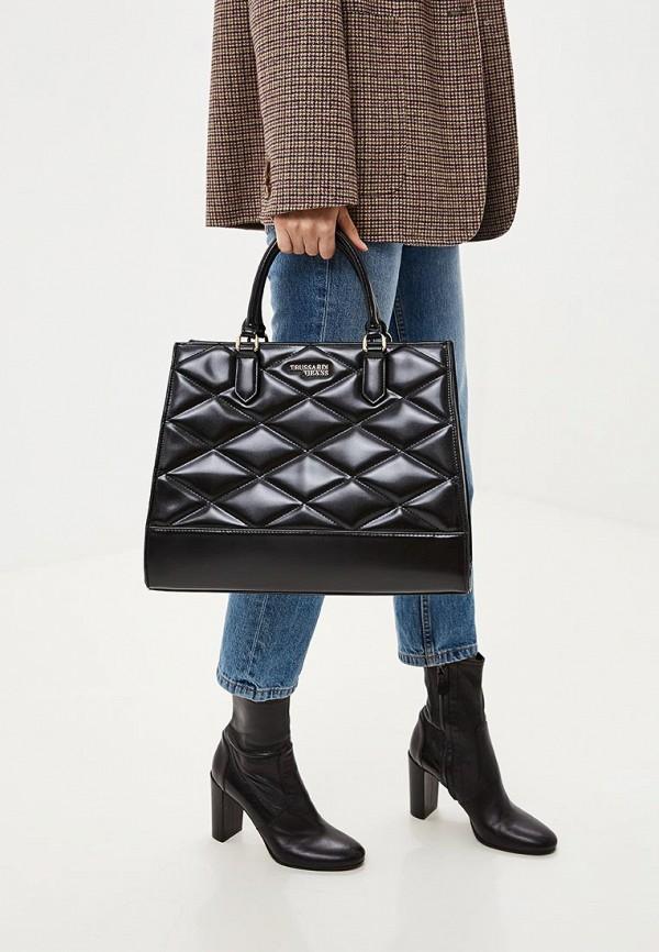 Фото 6 - женскую сумку Trussardi Jeans черного цвета