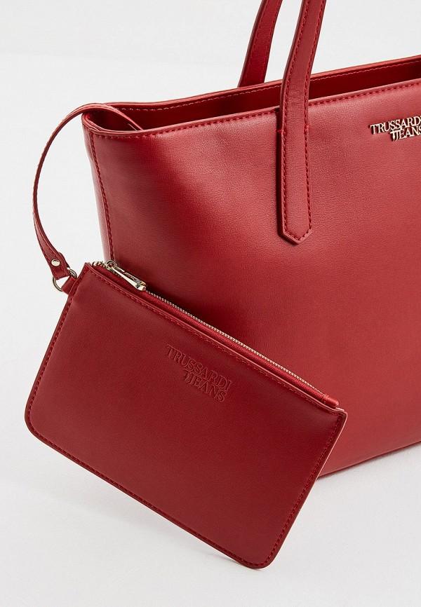 Фото 3 - женскую сумку Trussardi Jeans красного цвета