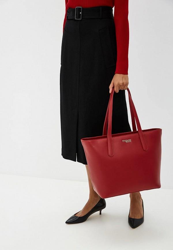 Фото 6 - женскую сумку Trussardi Jeans красного цвета