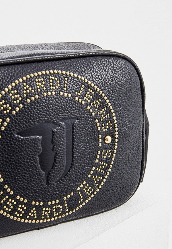 Фото 3 - женскую сумку Trussardi Jeans черного цвета