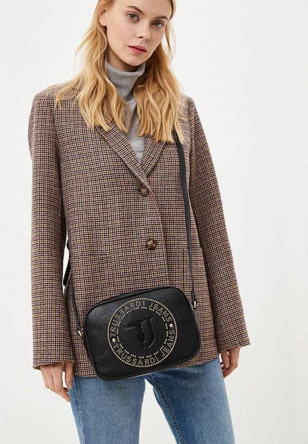 Фото 5 - женскую сумку Trussardi Jeans черного цвета