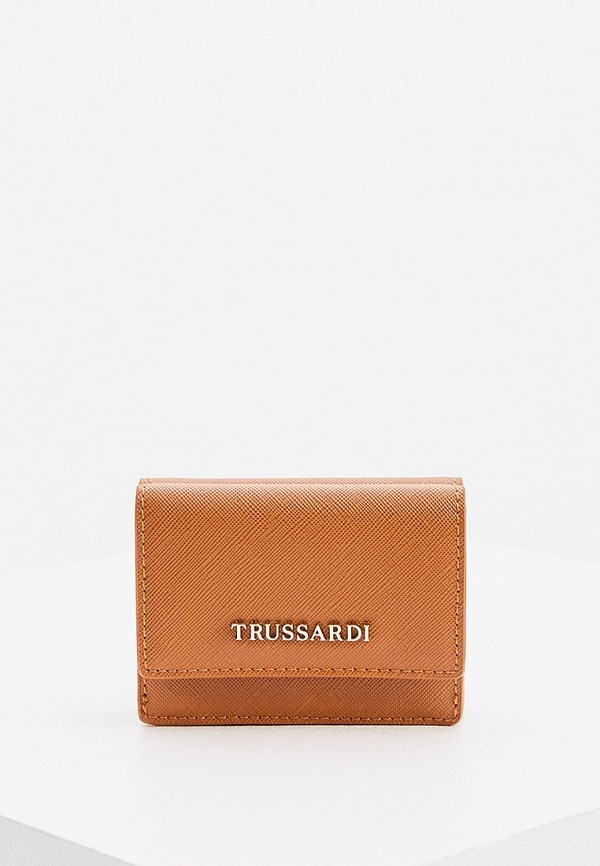 женский кошелёк trussardi, коричневый