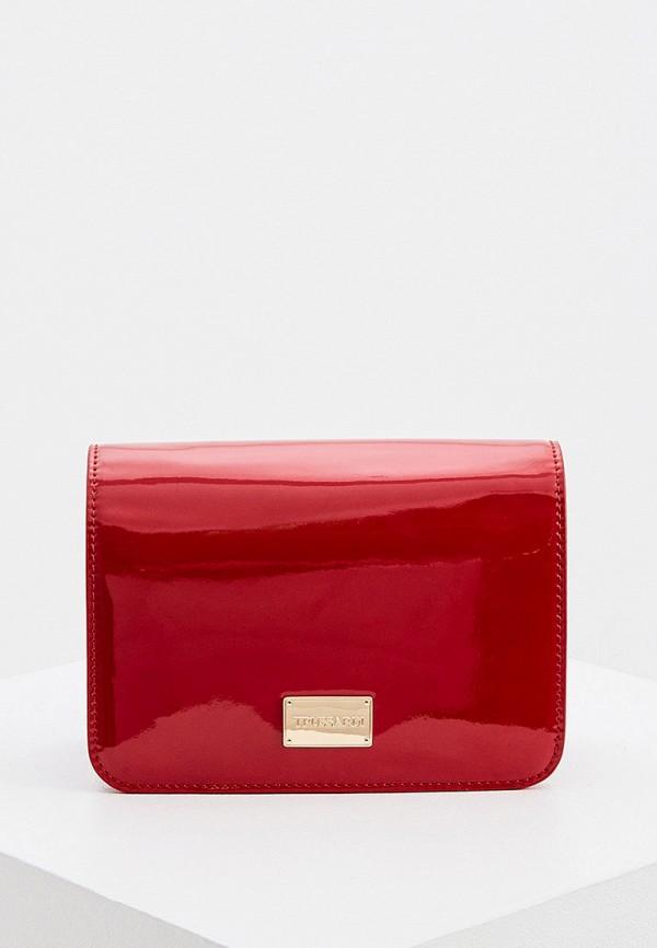 женская сумка trussardi, красная