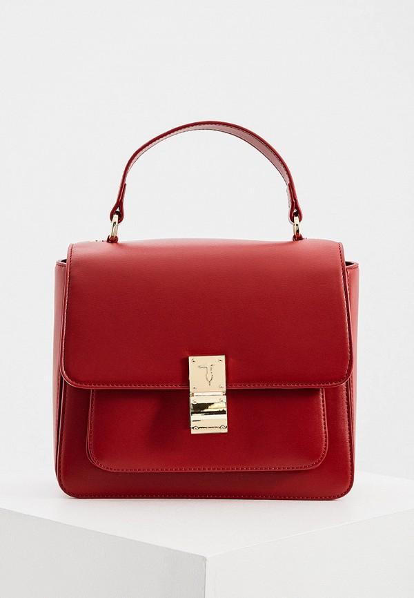 женская сумка trussardi, бордовая