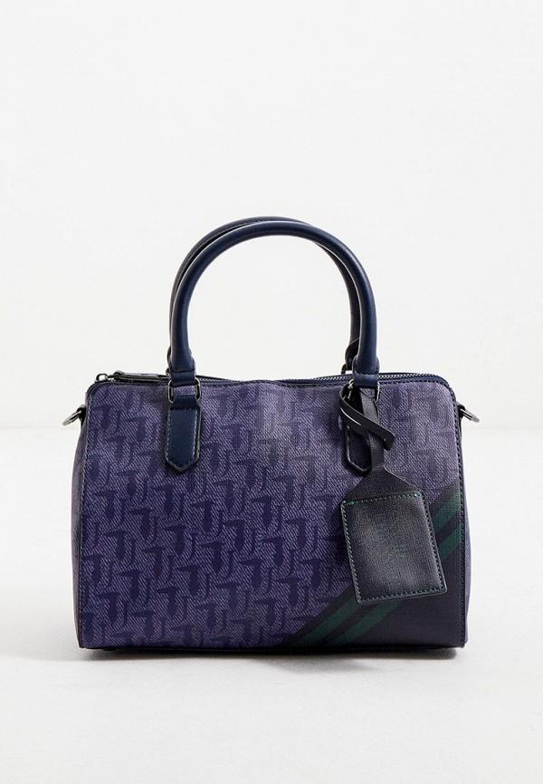 женская сумка trussardi, фиолетовая