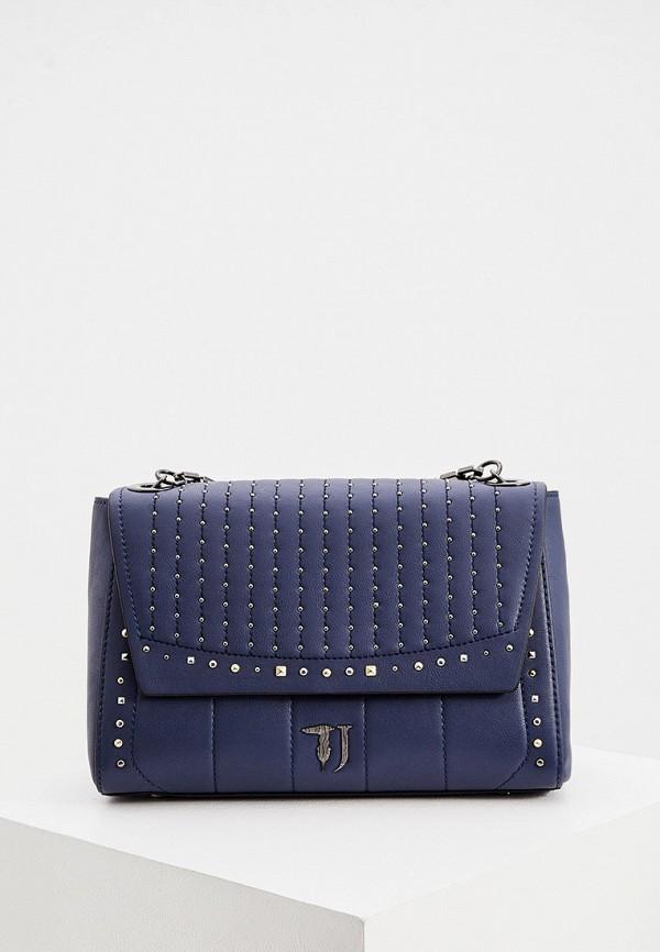 женская сумка trussardi, синяя