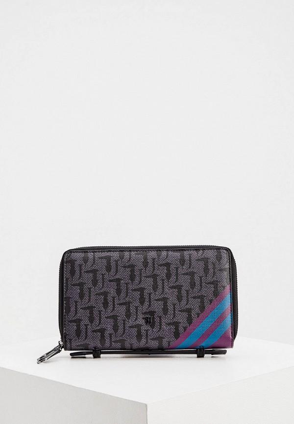 женский кошелёк trussardi, серый