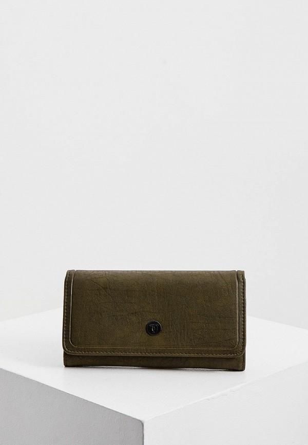 женский кошелёк trussardi, хаки
