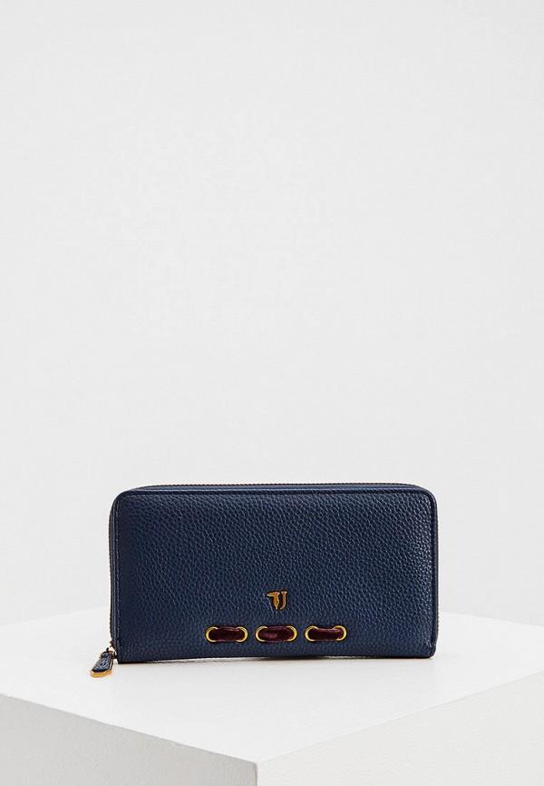 женский кошелёк trussardi, синий