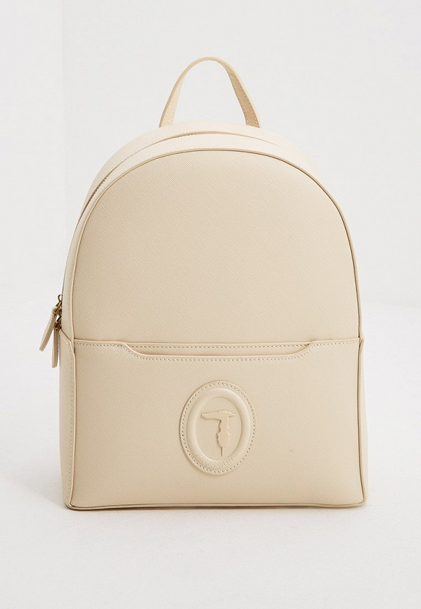 женский рюкзак trussardi, бежевый