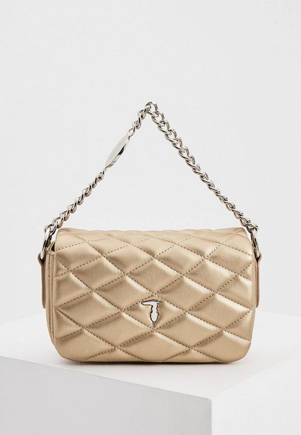 женская поясные сумка trussardi, золотая
