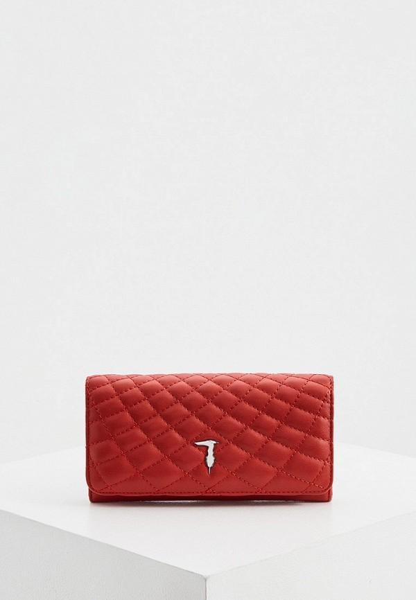 женский кошелёк trussardi, красный