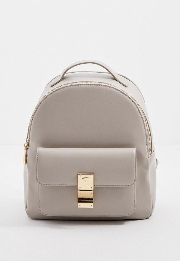 женский рюкзак trussardi, серый