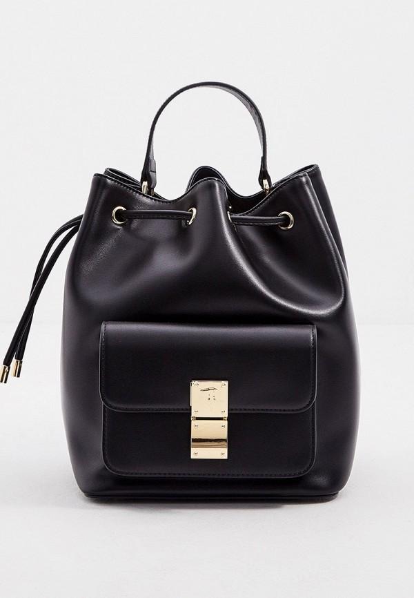женская сумка-ведро trussardi, черная