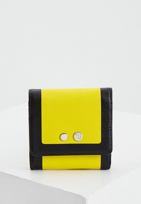 женский кошелёк trussardi, желтый