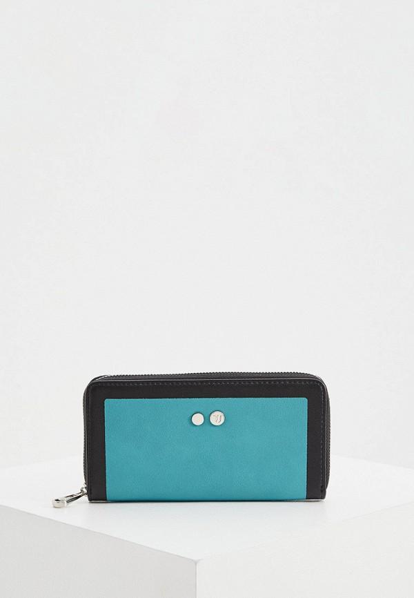 женский кошелёк trussardi, бирюзовый