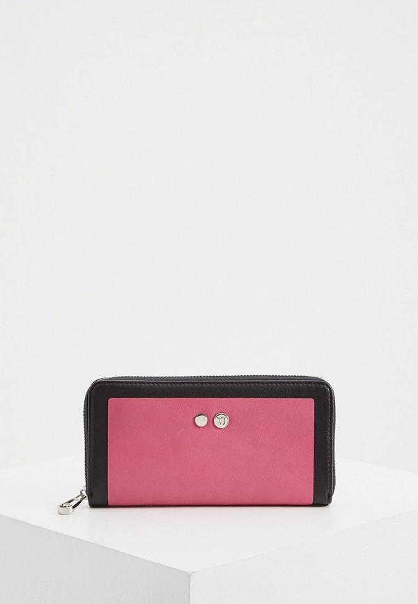 женский кошелёк trussardi, розовый