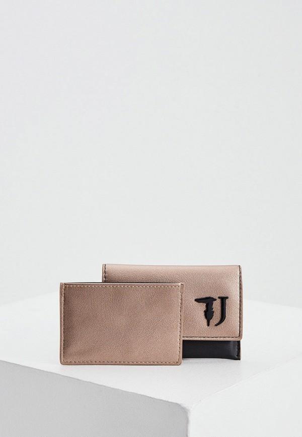 женский кошелёк trussardi, золотой