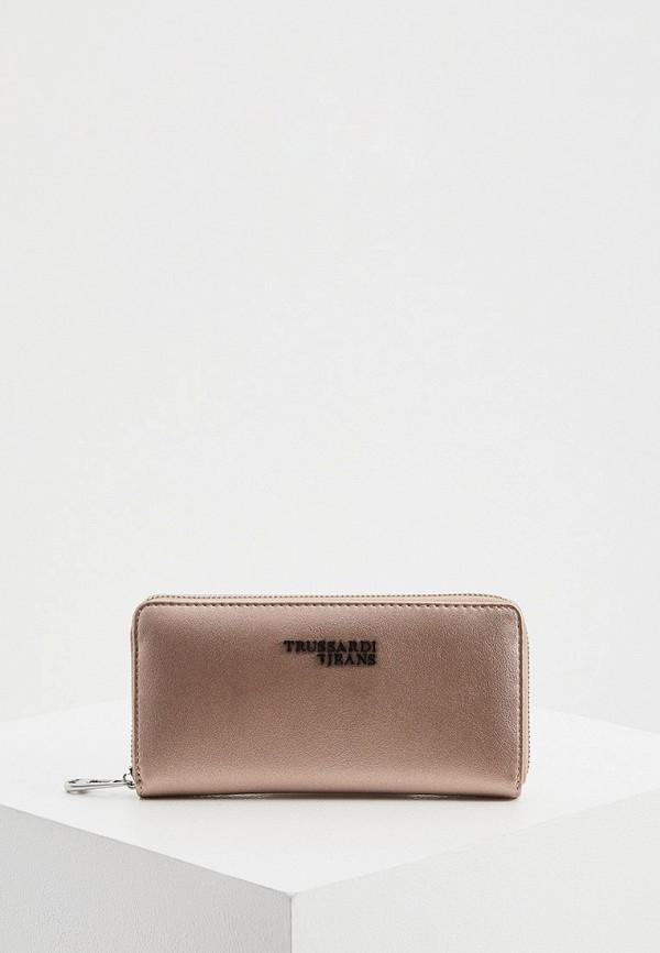 женский кошелёк trussardi, бежевый