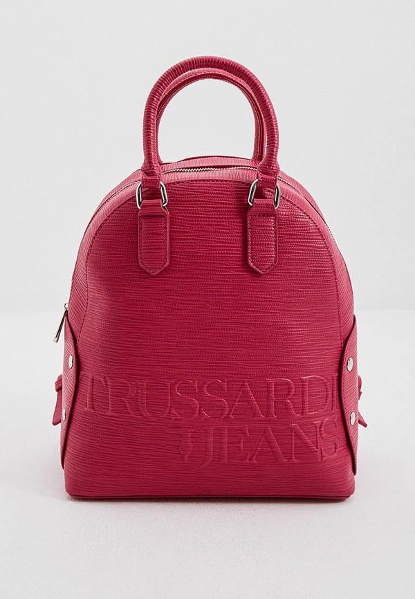 женский рюкзак trussardi, розовый
