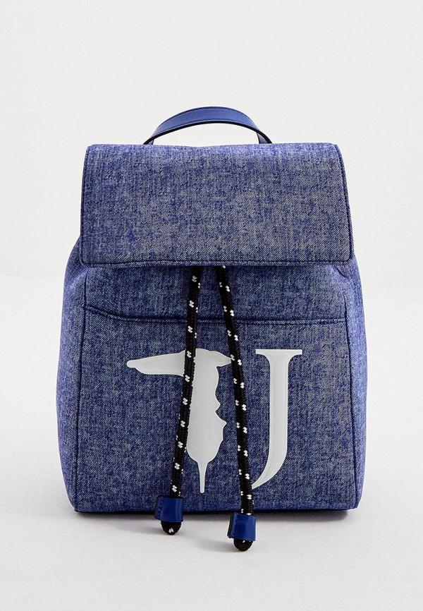 женский рюкзак trussardi, синий