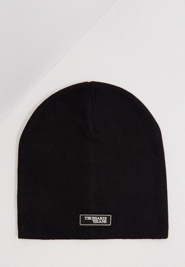 мужская шапка trussardi, черная