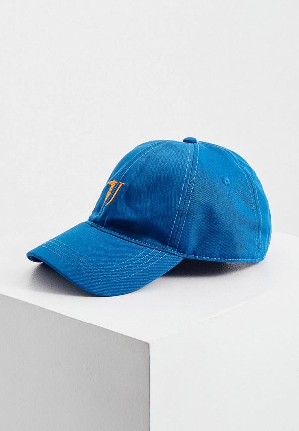 мужская бейсболка trussardi, синяя