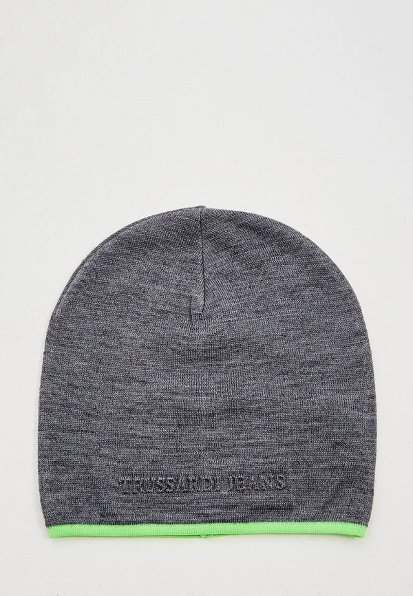 мужская шапка trussardi, серая